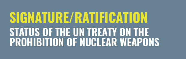 Status of the Treaty on the Prohibition of nuclear weapons