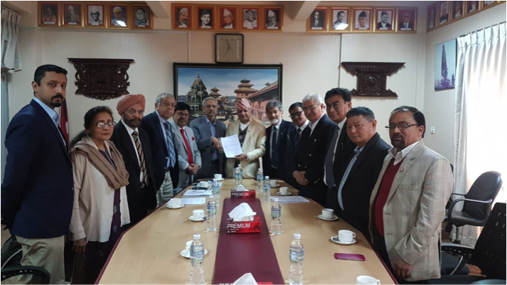 ICAN campaigners IPPNW meet with Nepalese officials