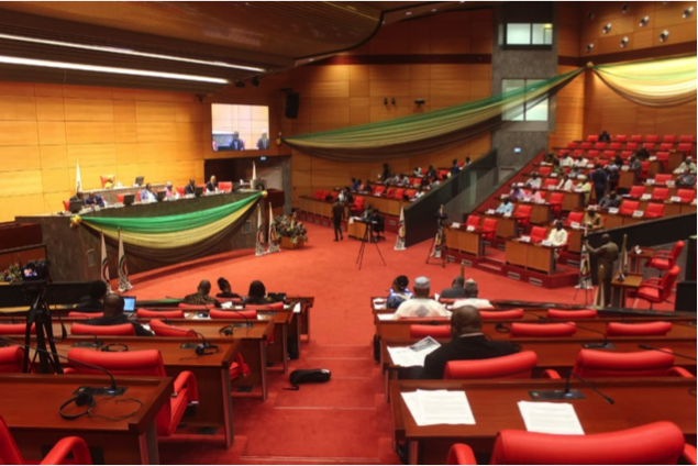 ICAN campaigners addressing ECOWAS parliament