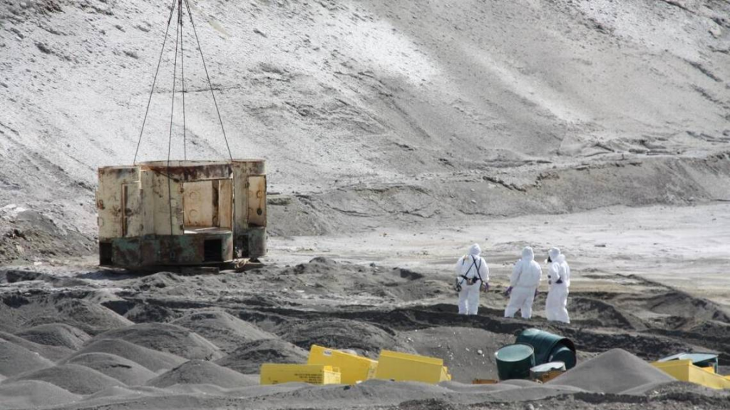 Radioactive waste found in the ground at the Hanford Site