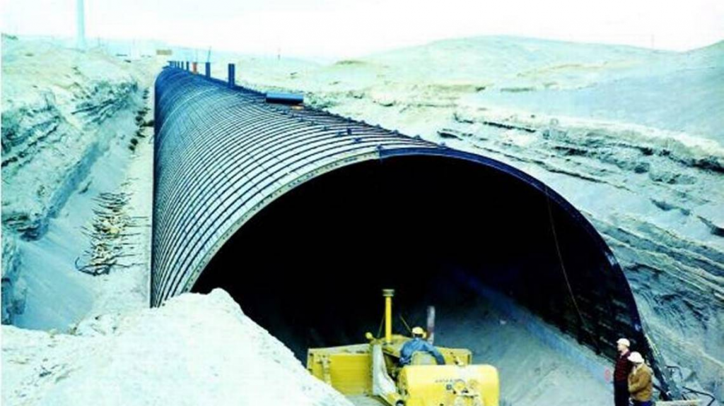 The 2nd PUREX plant tunnel holding rail cars loaded with highly radioactive Hanford nuclear reservation waste has been filled with concrete-like grout to stabilize it. The site's 1st tunnel partially collapsed.